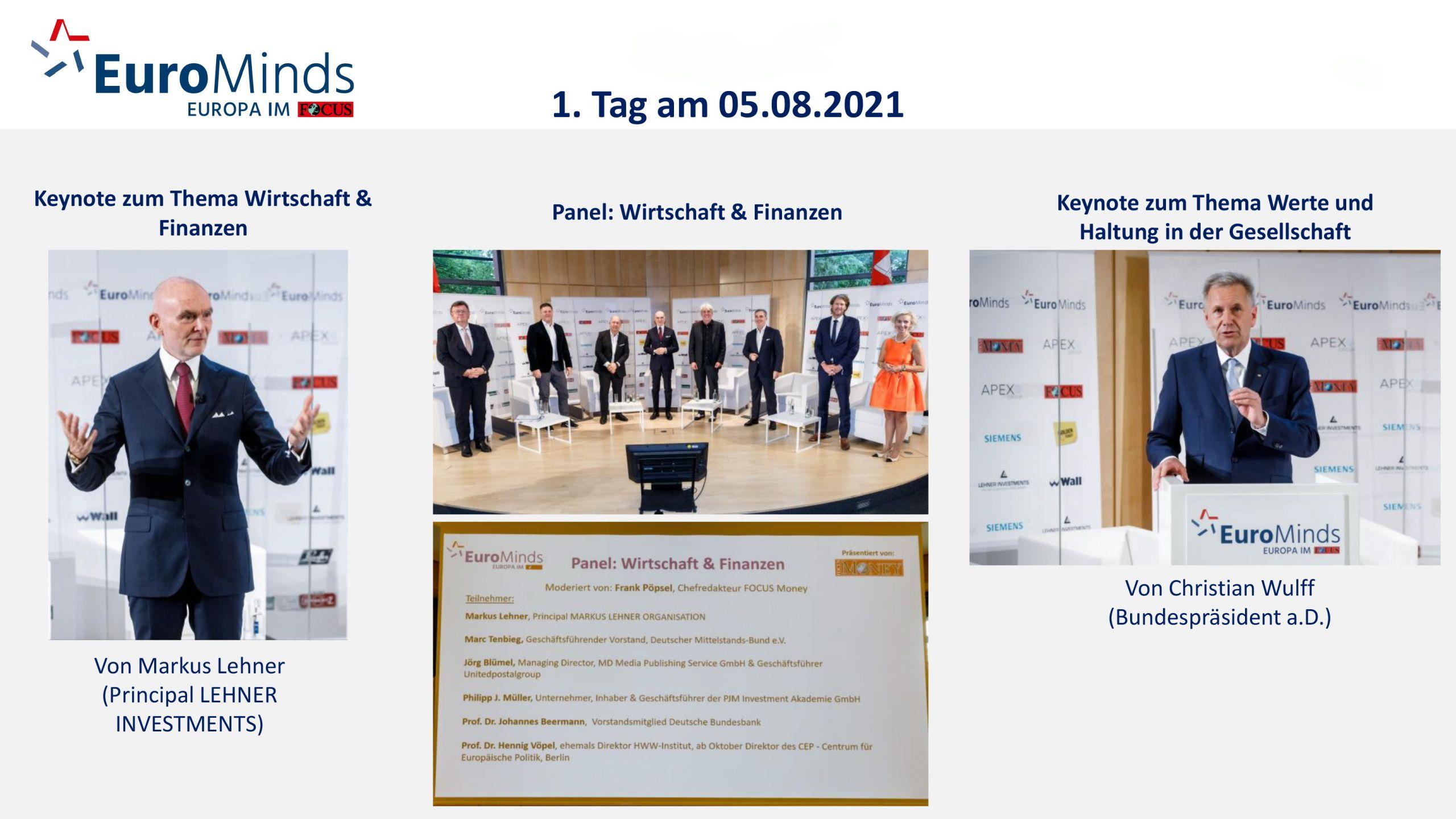 Keynote EuroMinds 2021 Markus Lehner