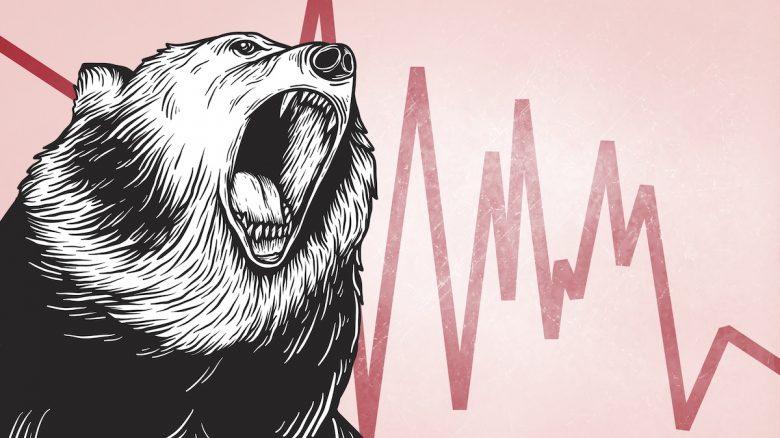 Bärenmarkt / Baisse / Coronavirus-Rezession